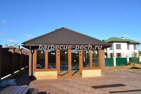 строительство летняя кухня на даче