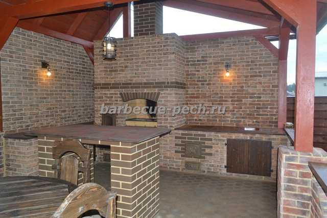 Строительство барбекю с барной стойкой под ключ КП Бежин Луг